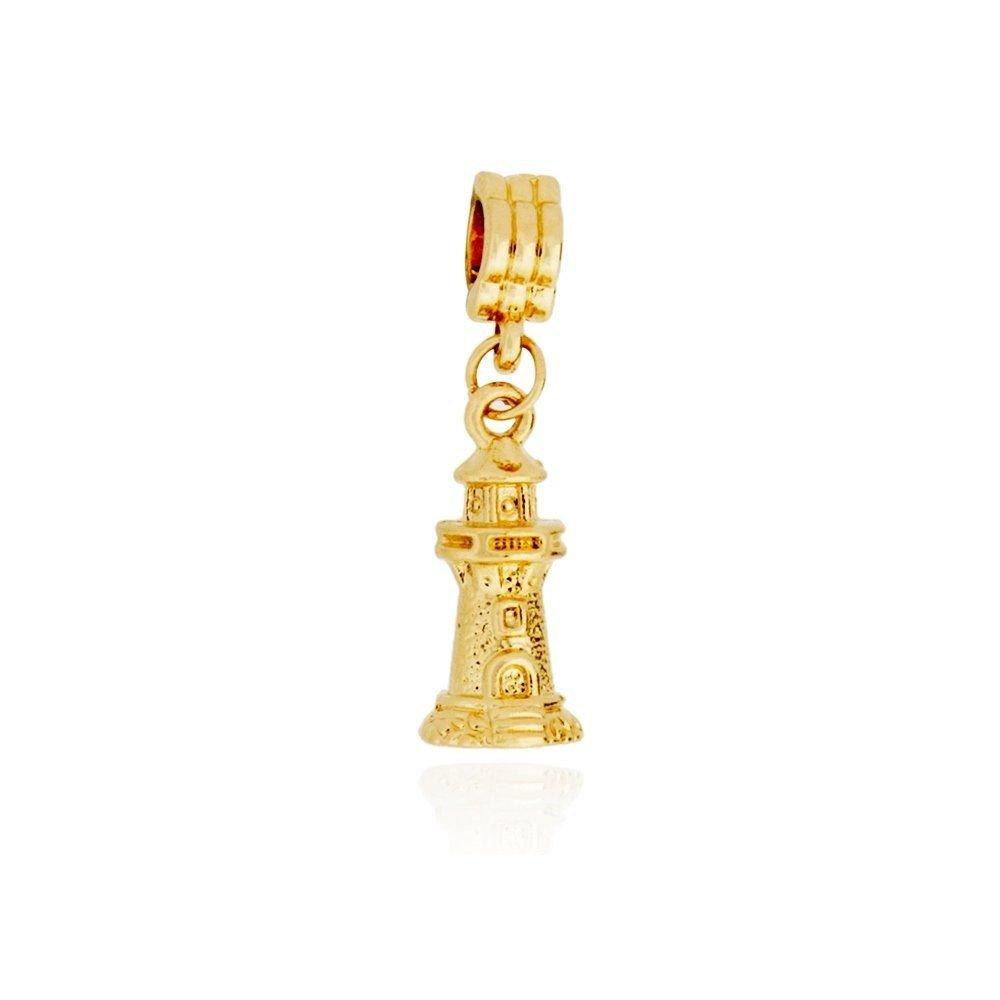 Berloque Farol Dourado