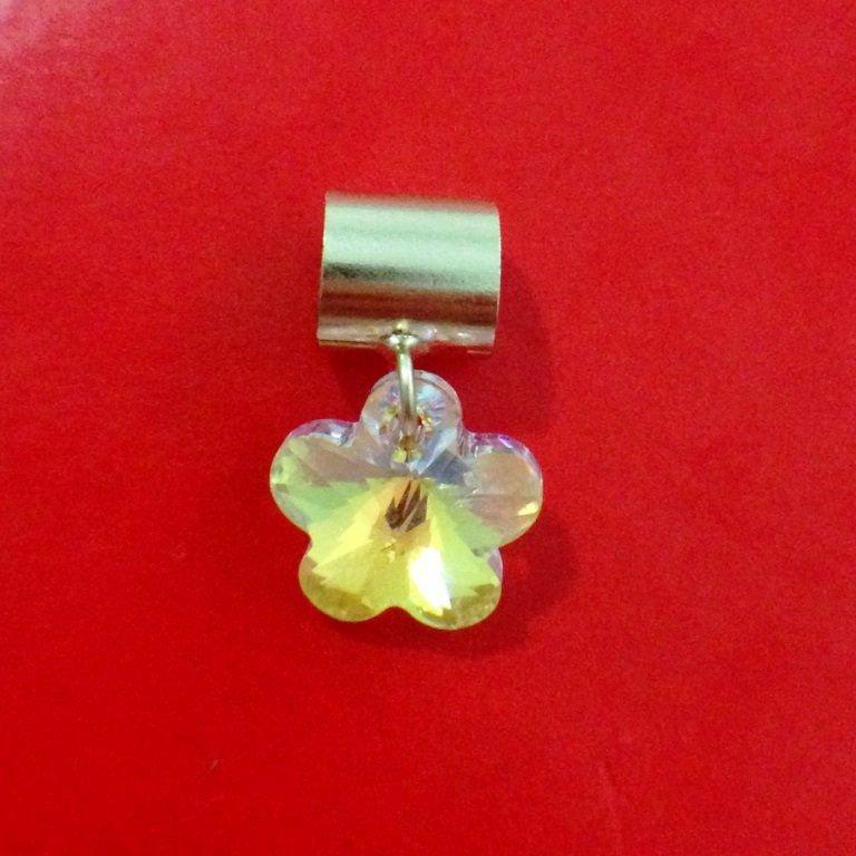Berloque Flor de Cristal
