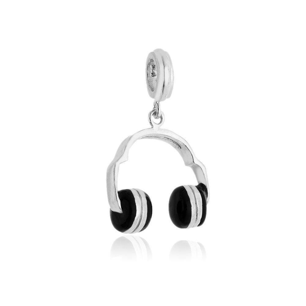 Berloque Fone de Ouvido Prata