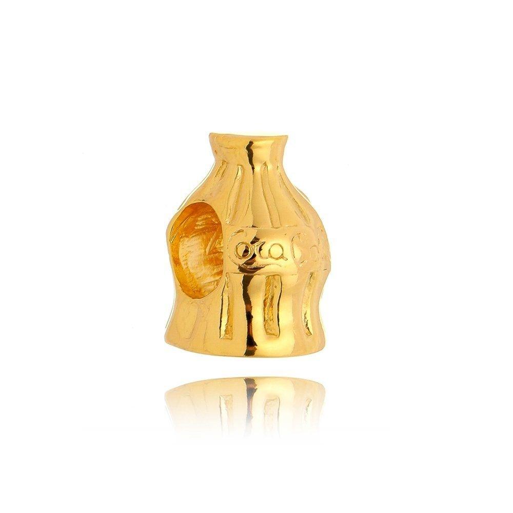Berloque Garrafinha de Coca Dourada