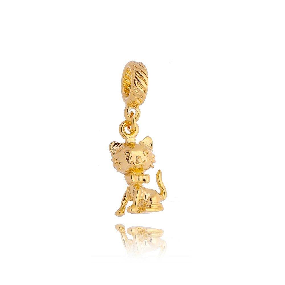 Berloque Gatinho Dourado