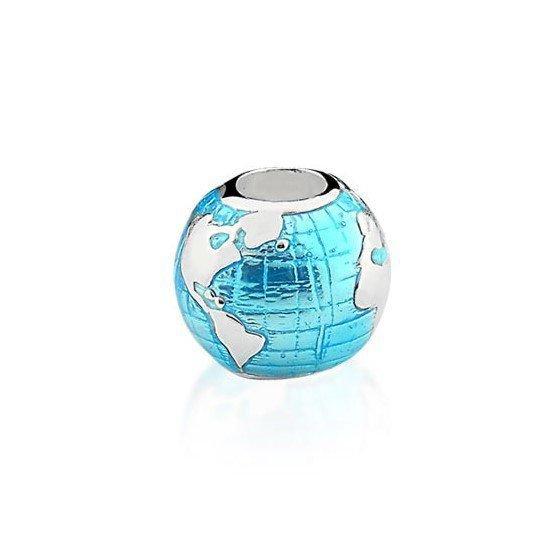 Berloque Globo Terrestre Azul