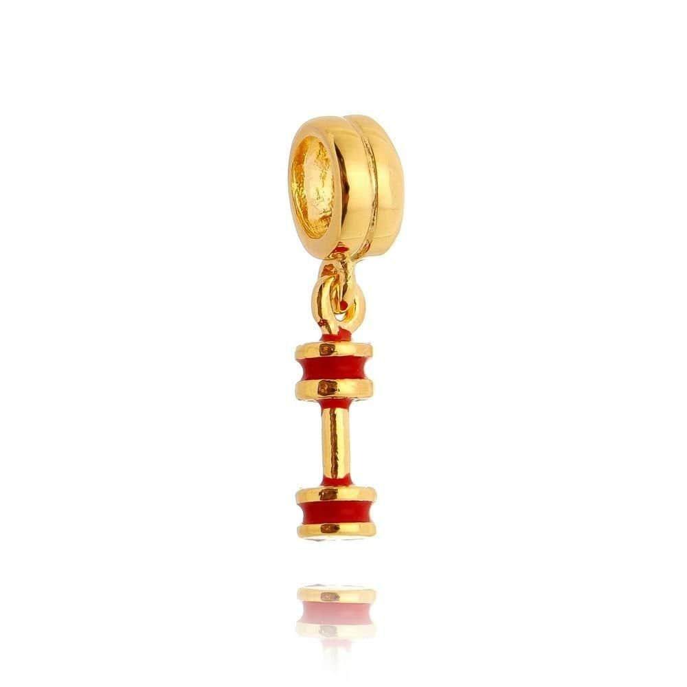 Berloque Halteres Dourado