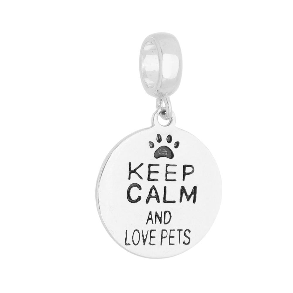 Berloque Keep Calm and Love Pets
