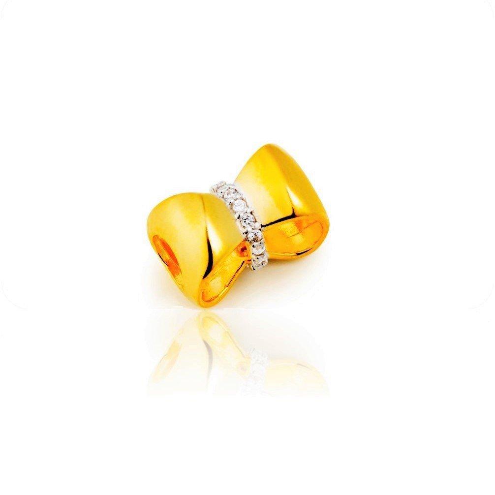 Berloque Laço Dourado