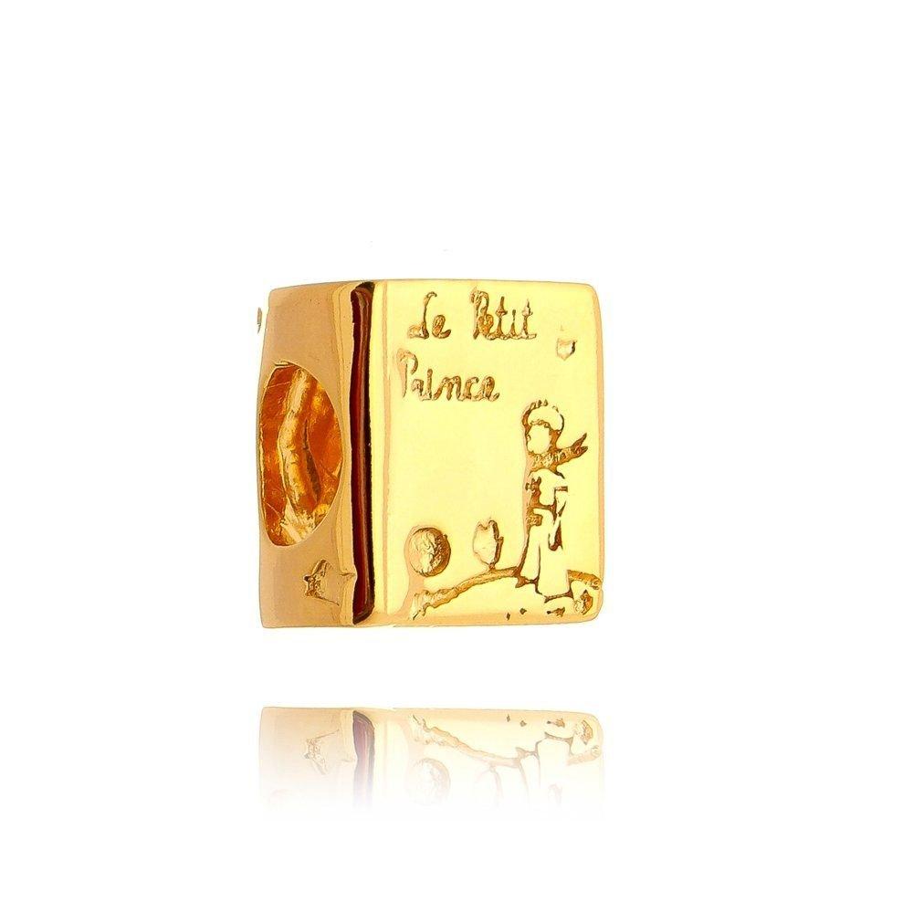 Berloque Livro Pequeno Príncipe Dourado