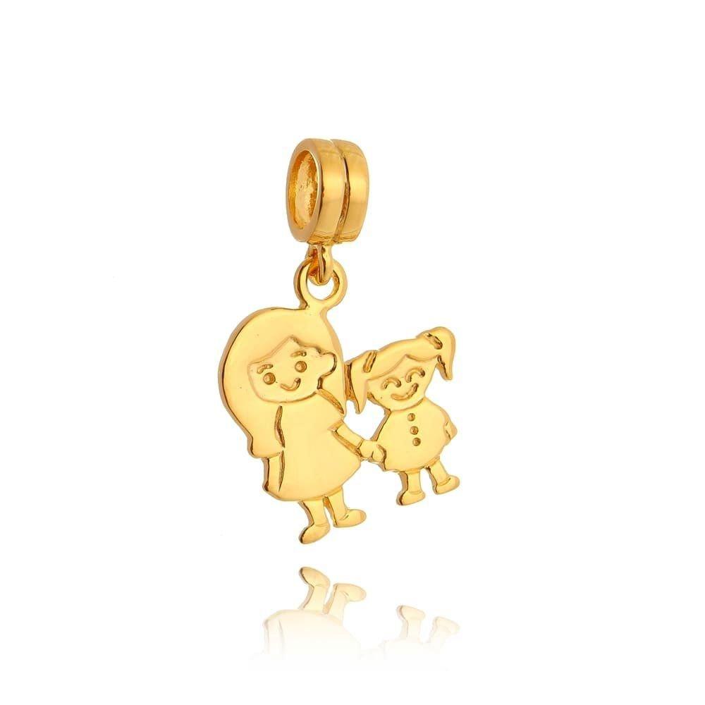 Berloque Mãe E Filha Dourado