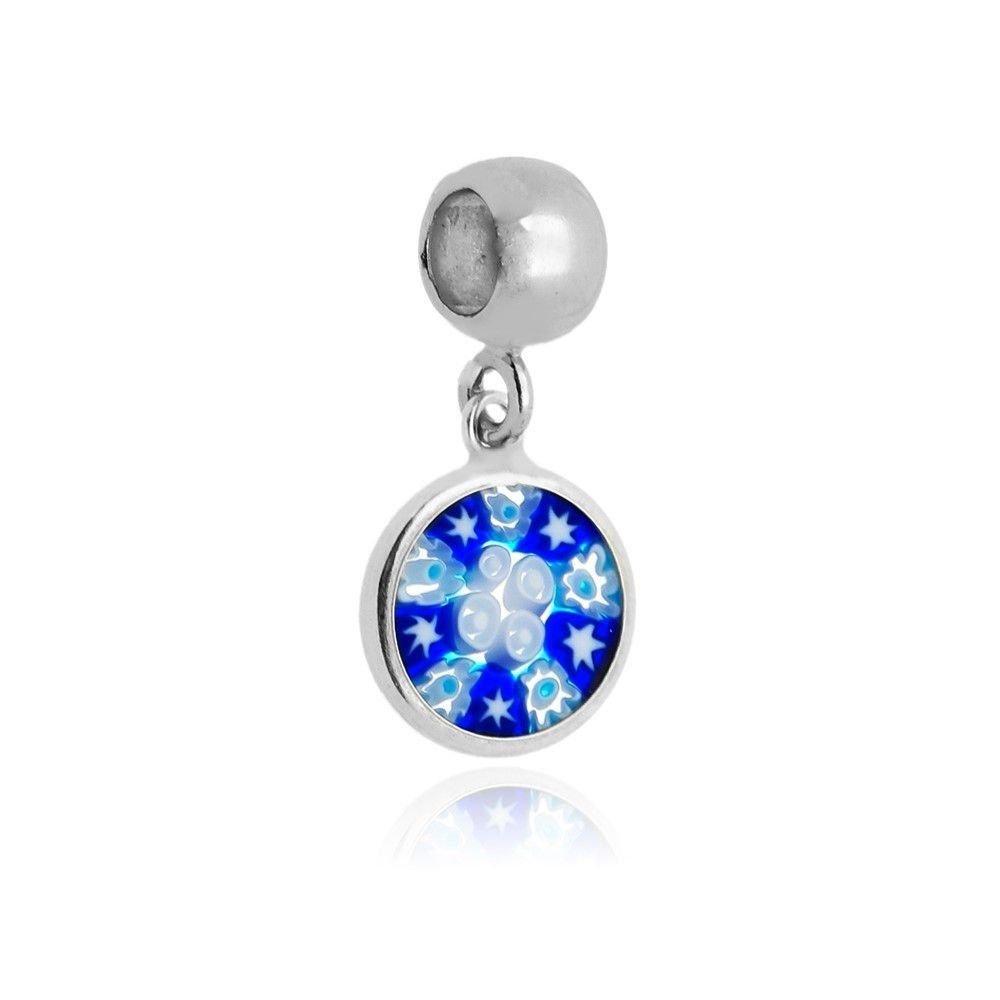Berloque Mandala Murrina Azul Intenso