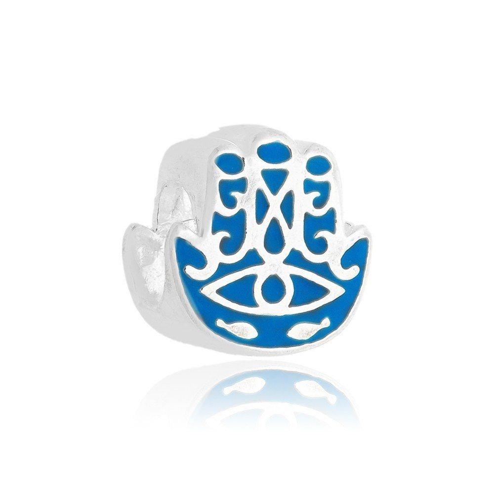 Berloque Mão de Fátima Azul Clara