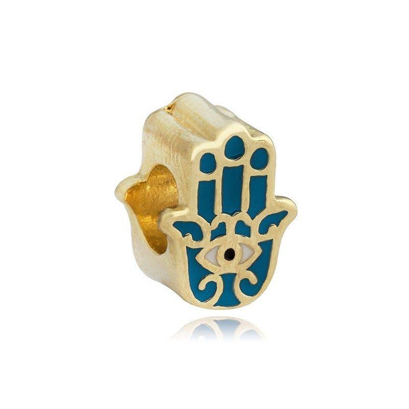 Berloque Mão de Fátima Dourada