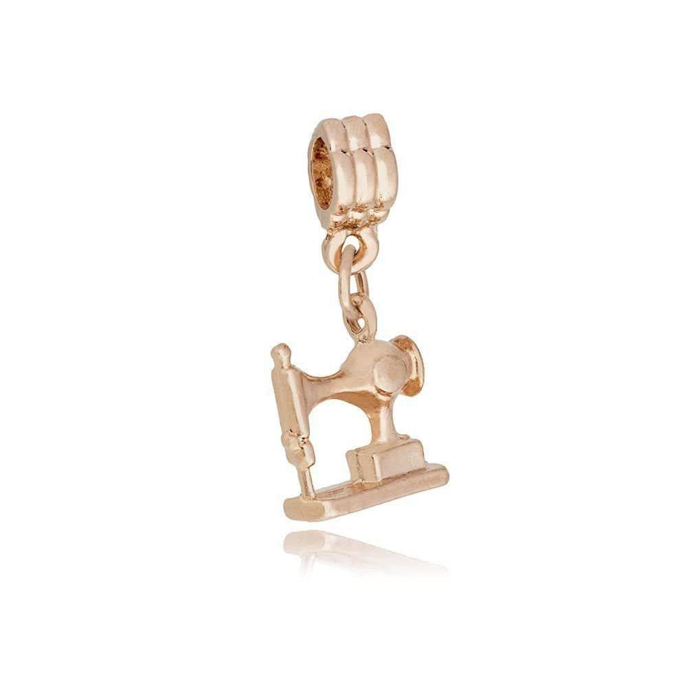 Berloque Máquina de Costura Dourada
