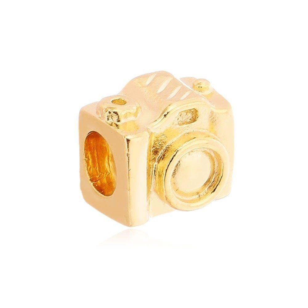 Berloque Máquina Fotográfica Dourada