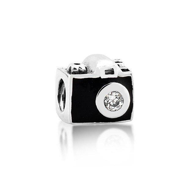 Berloque Máquina Fotográfica Zircônia