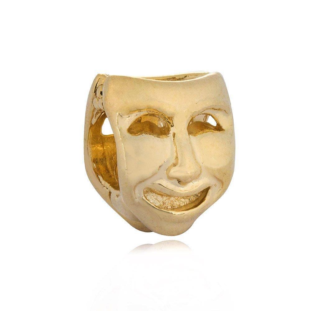 Berloque Máscara de Teatro Dourada