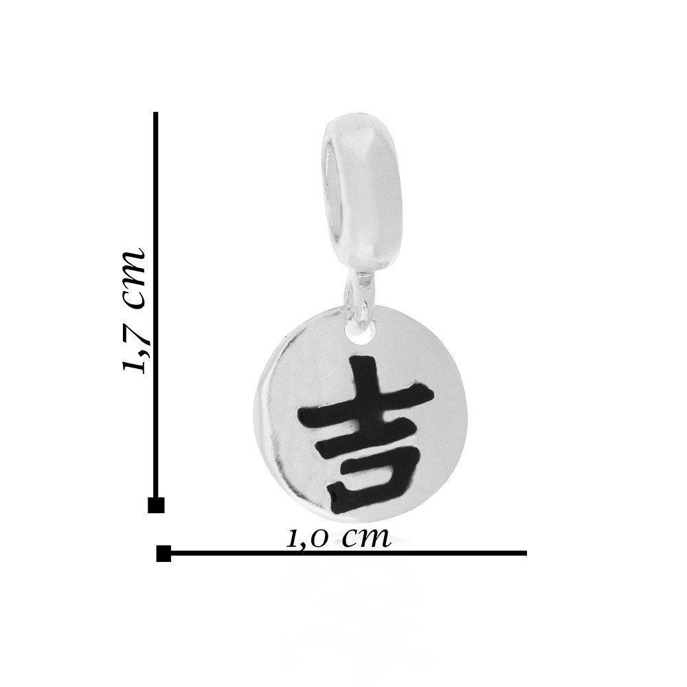 Berloque Medalha Símbolo de Sorte