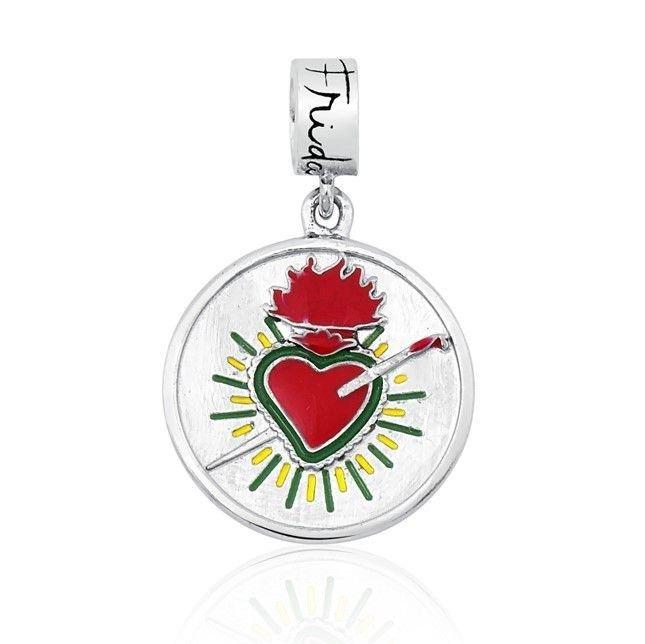 Berloque Medalhinha Coração Frida