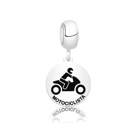Berloque Medalhinha de Motociclista