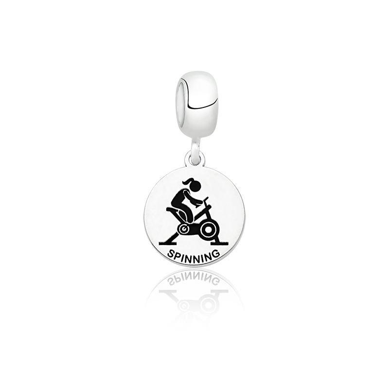 Berloque Medalhinha de Spinning