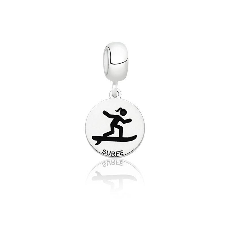 Berloque Medalhinha de Surfe
