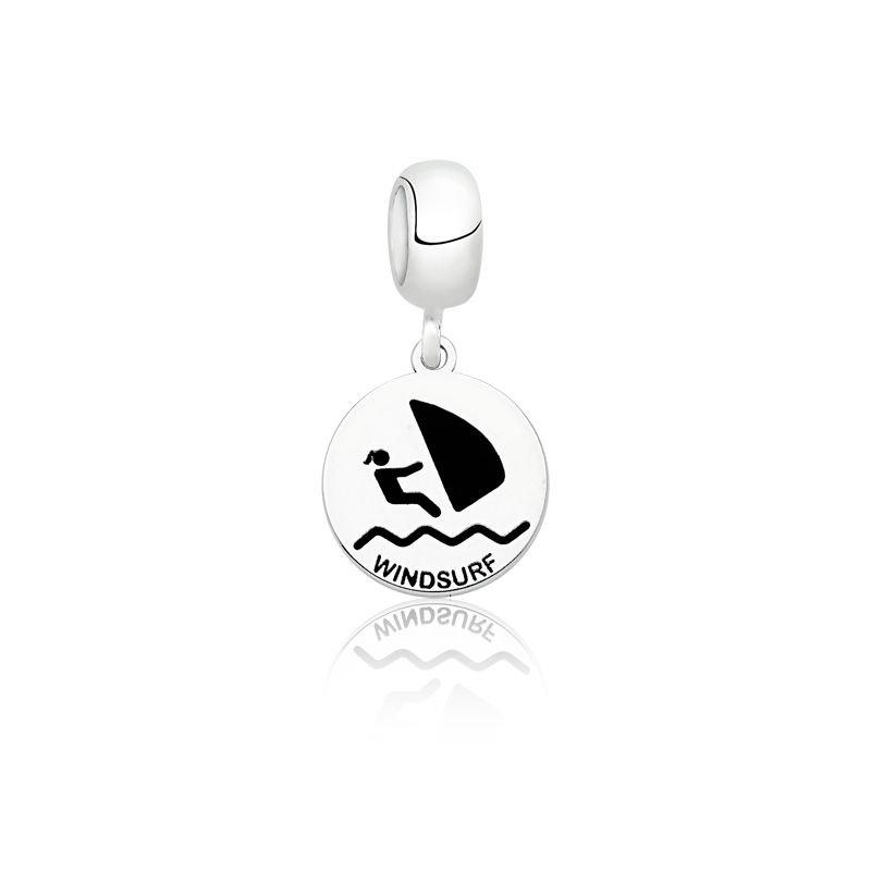 Berloque Medalhinha de Windsurf