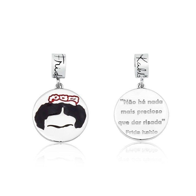 Berloque Medalhinha Frida Kahlo Risada