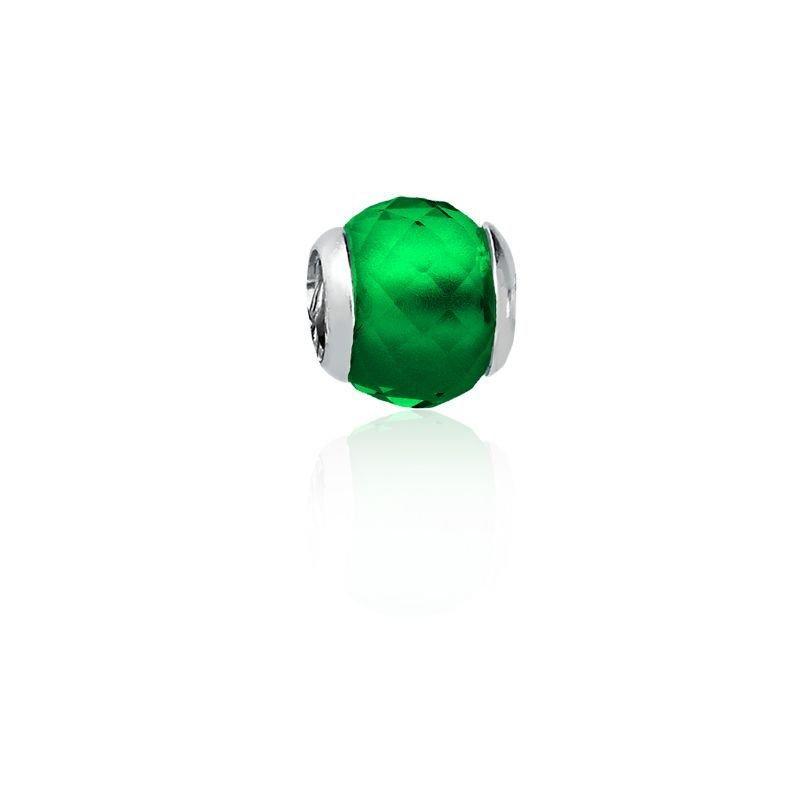 Berloque Mini Separador Facetado Verde
