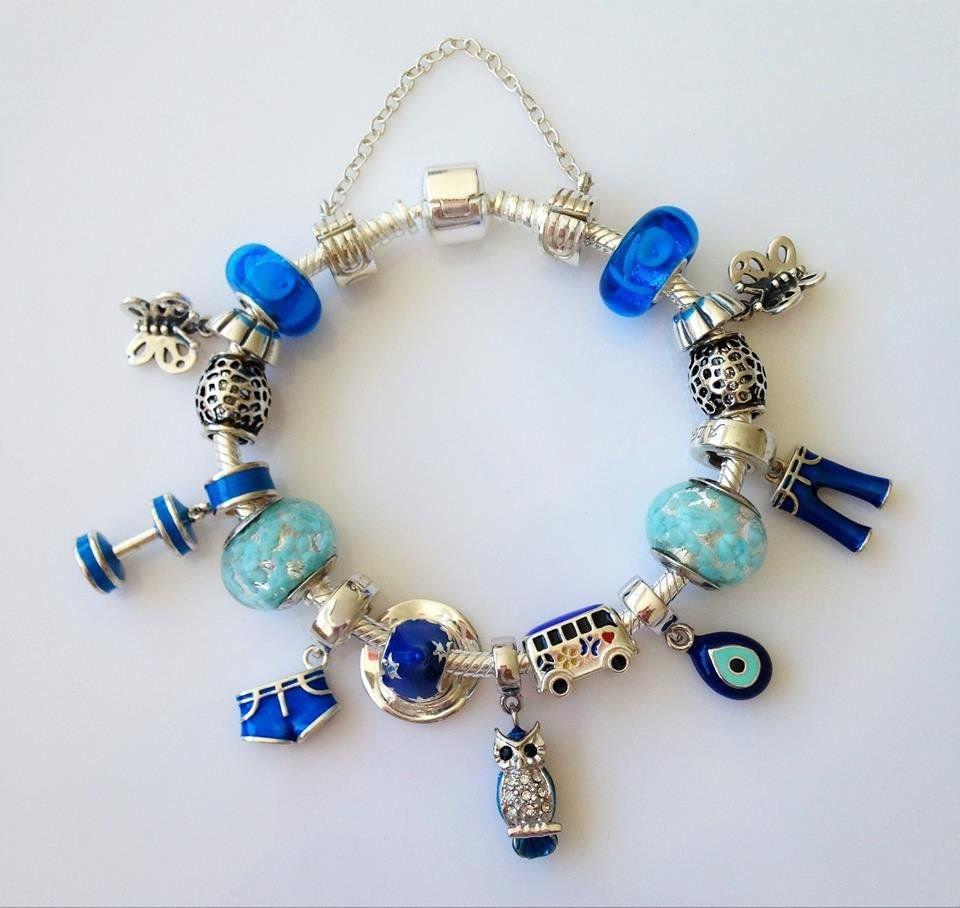 Berloque Murano Azul Intenso