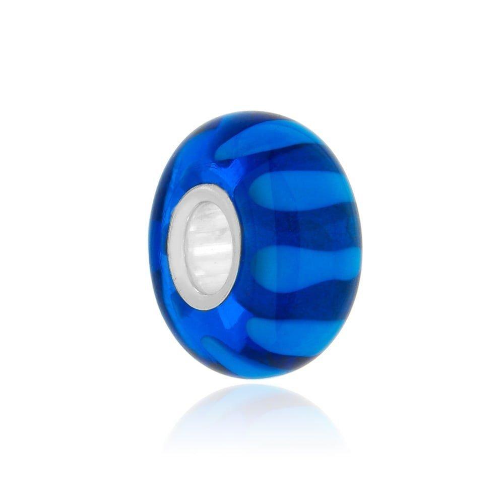 Berloque Murano Azul Linhas
