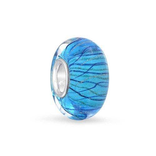 Berloque Murano Azul Listras