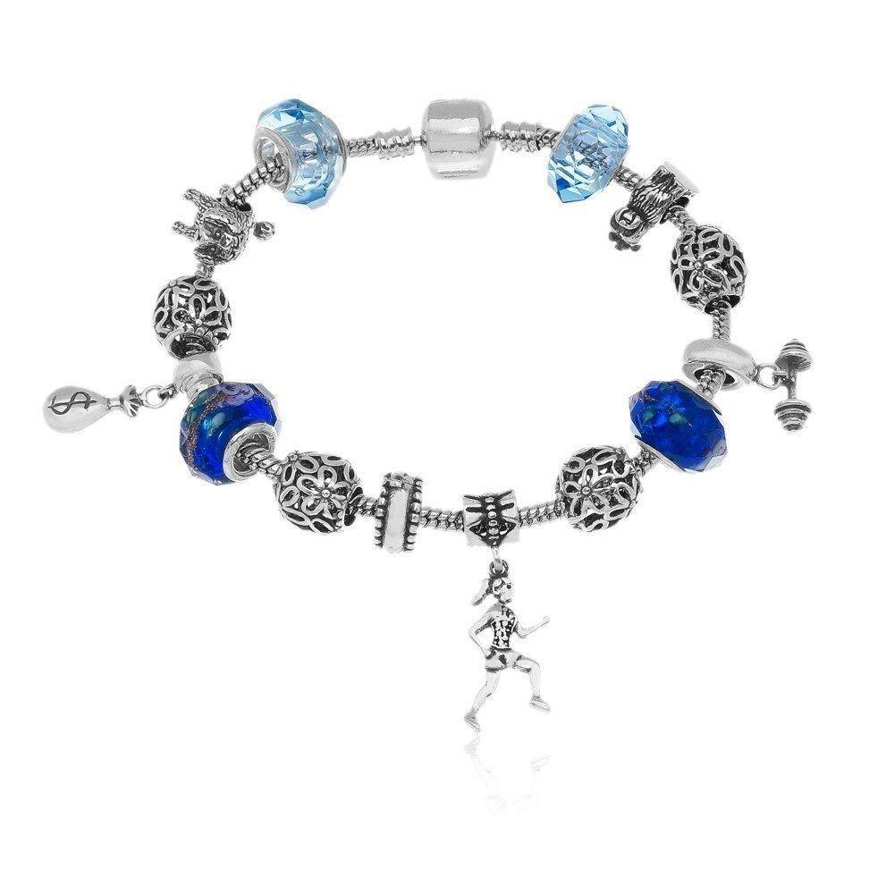 Berloque Murano Azul Marinho detalhes