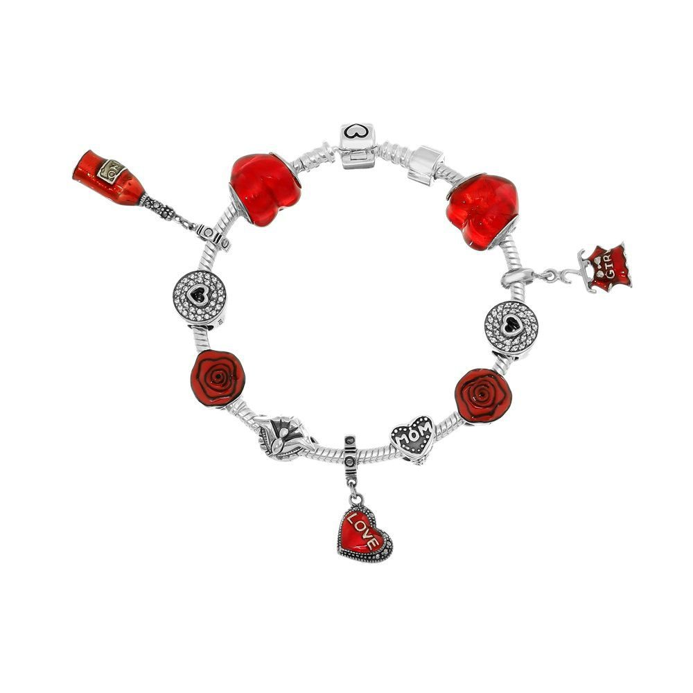 Berloque Murano Coração Vermelho