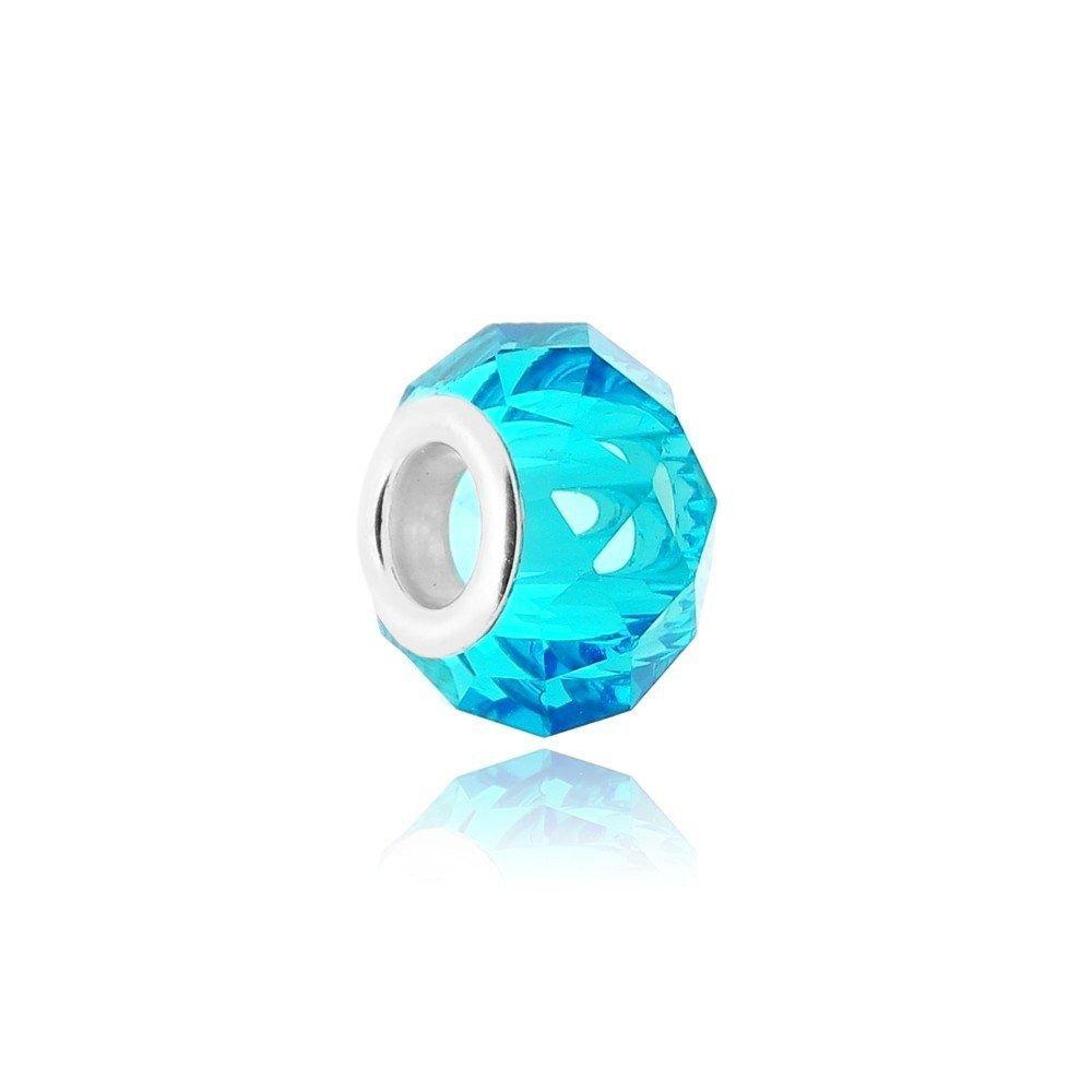 Berloque Murano Cristal Azul