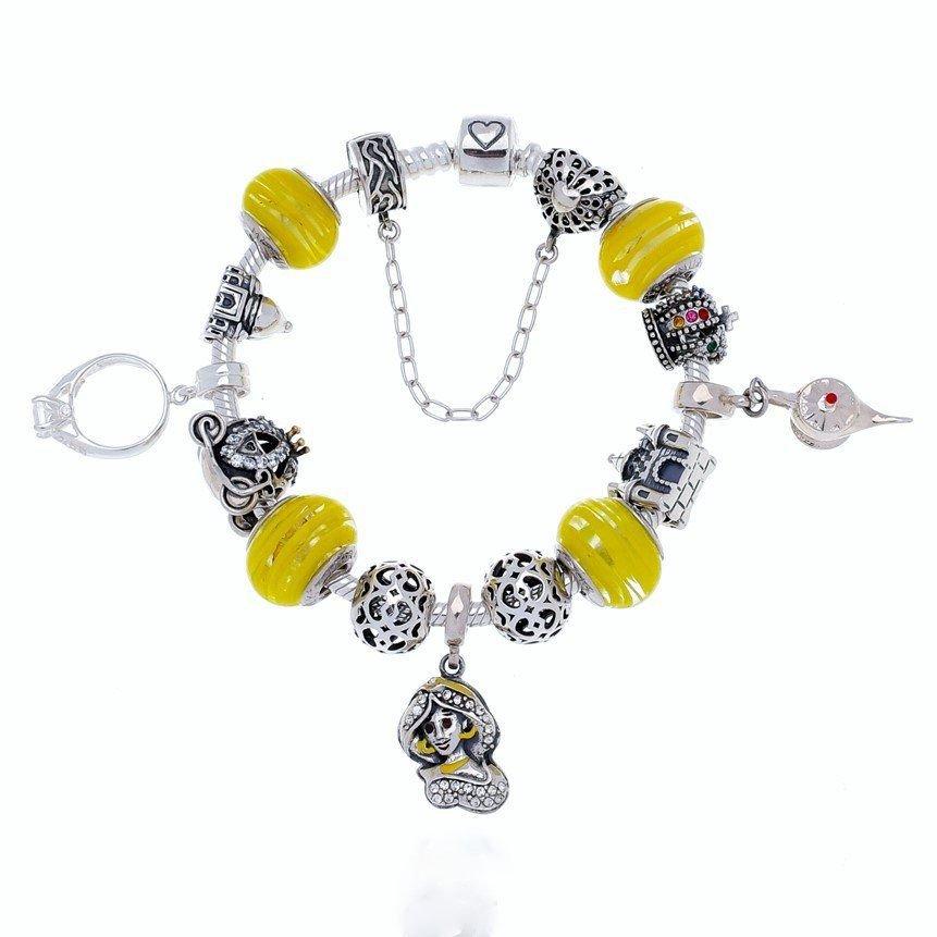 Berloque Murano Filigrana Amarelo