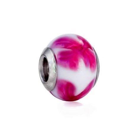 Berloque Murano Flor Pink