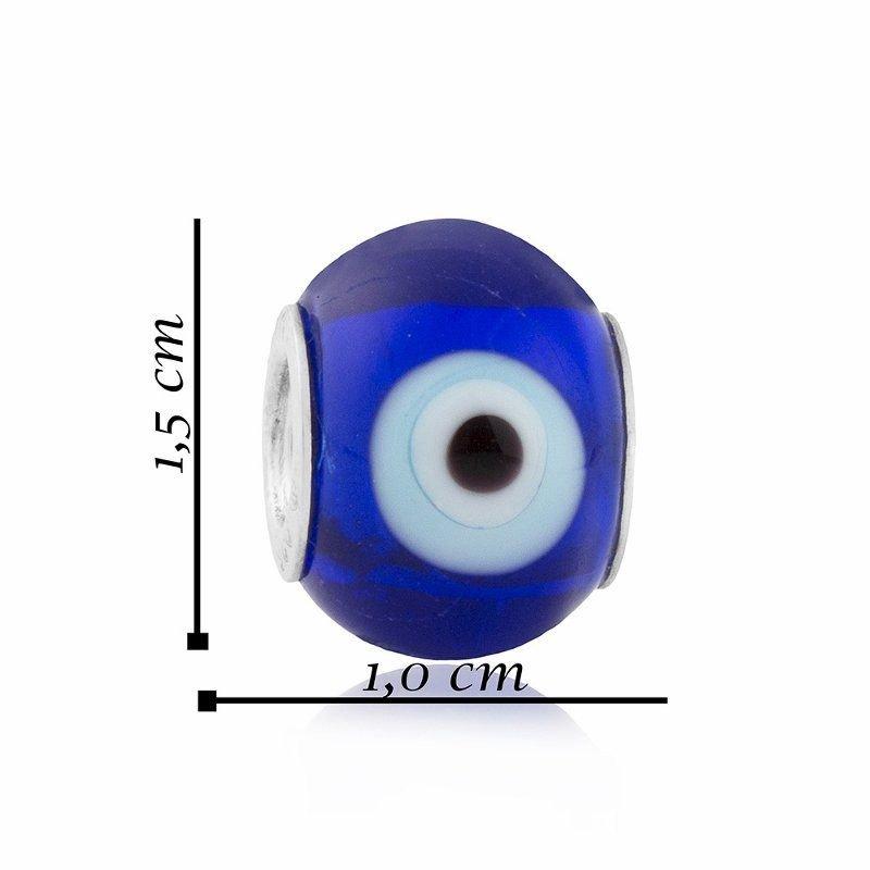Berloque Murano Olho Grego Azul