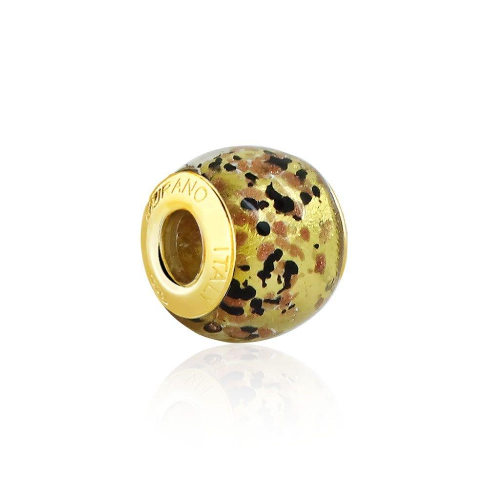Berloque Murano Oncinha Dourado