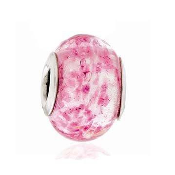 Berloque Murano Rosa Manchas