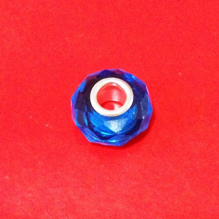 Berloque Murano Trabalhado Azul