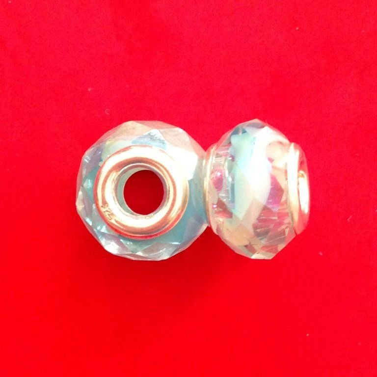 Berloque Murano Trabalhado Azul Efeito II