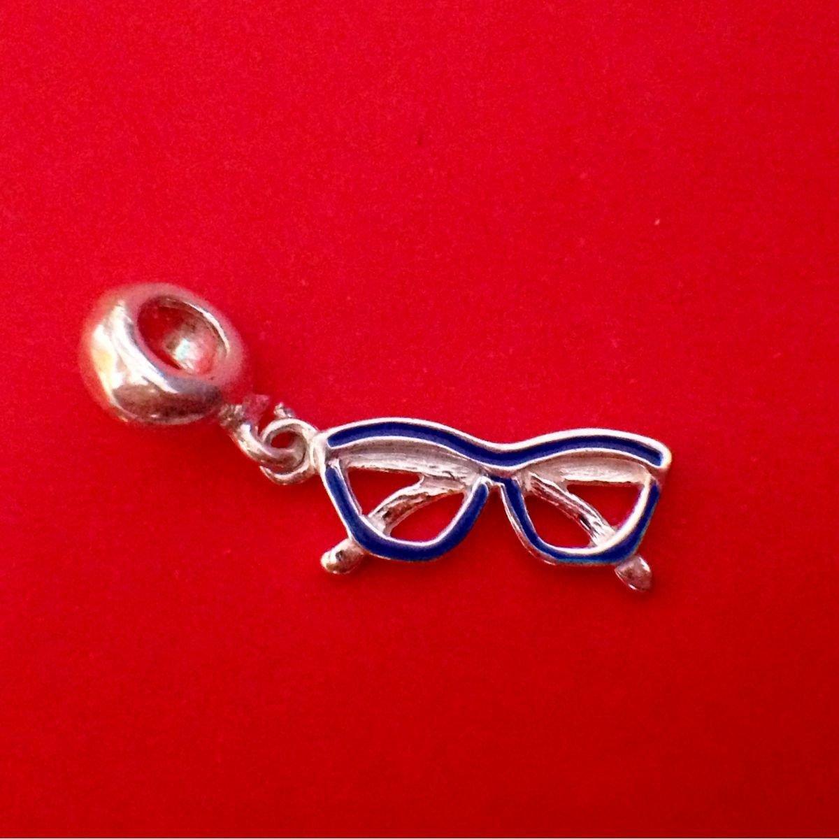 Berloque Óculos Azul