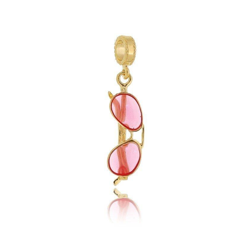 Berloque Óculos Dourado