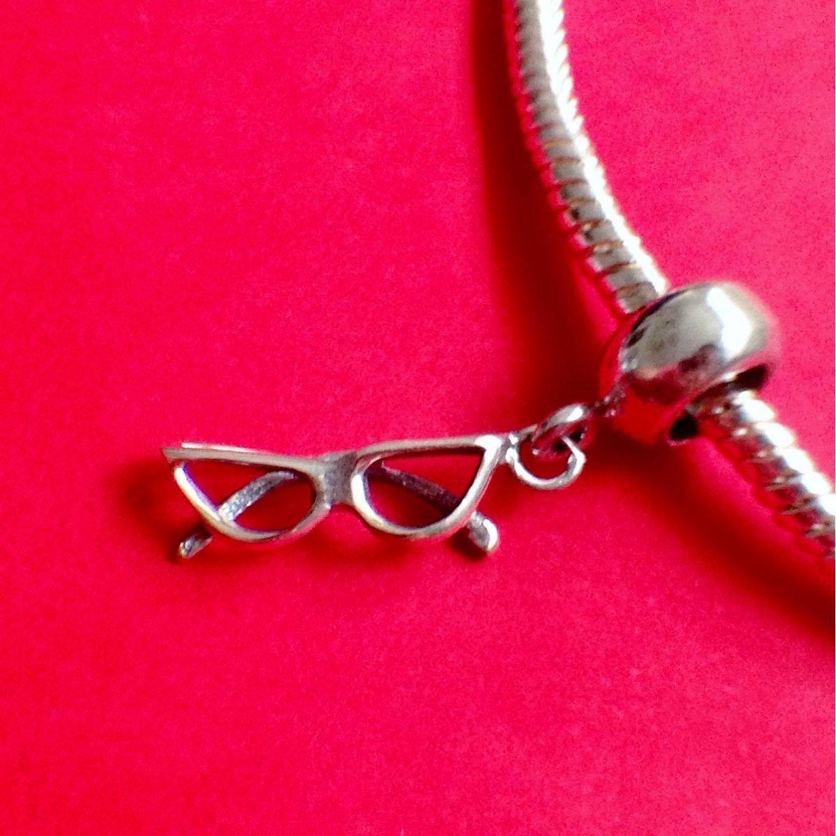 Berloque Oculos Prata