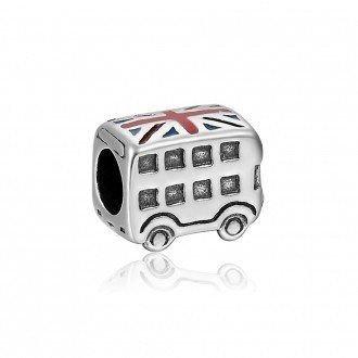 Berloque Ônibus de Londres Bandeira