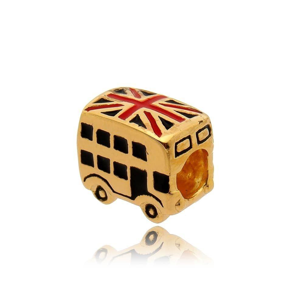 Berloque Ônibus de Londres Dourado