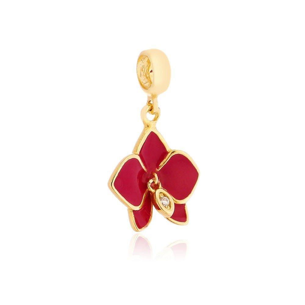 Berloque Orquídea Dourada