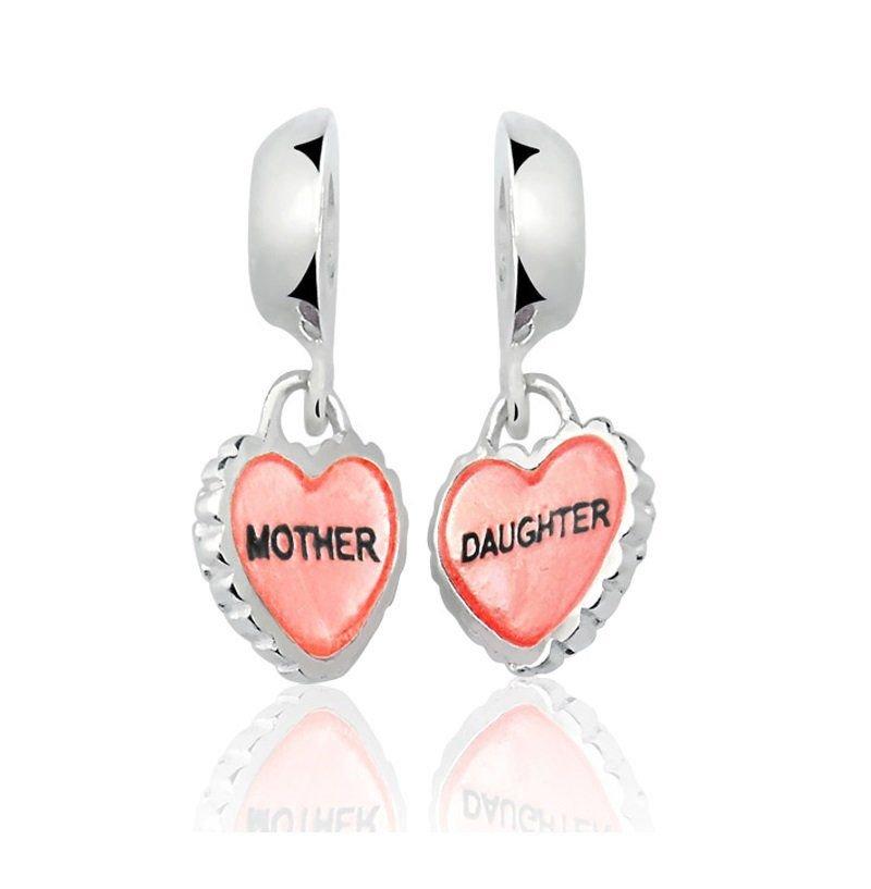 Berloque Par de Corações Mãe e Filha