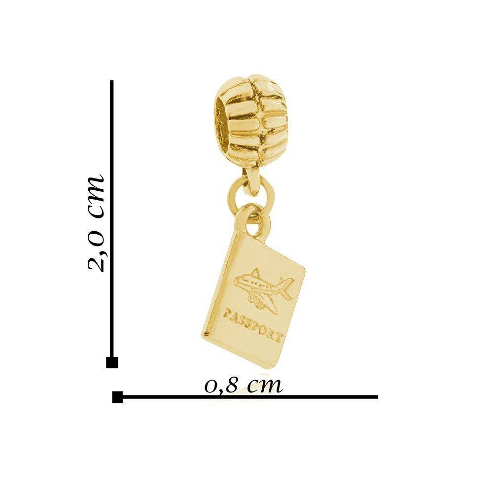 Berloque Passaporte Dourado