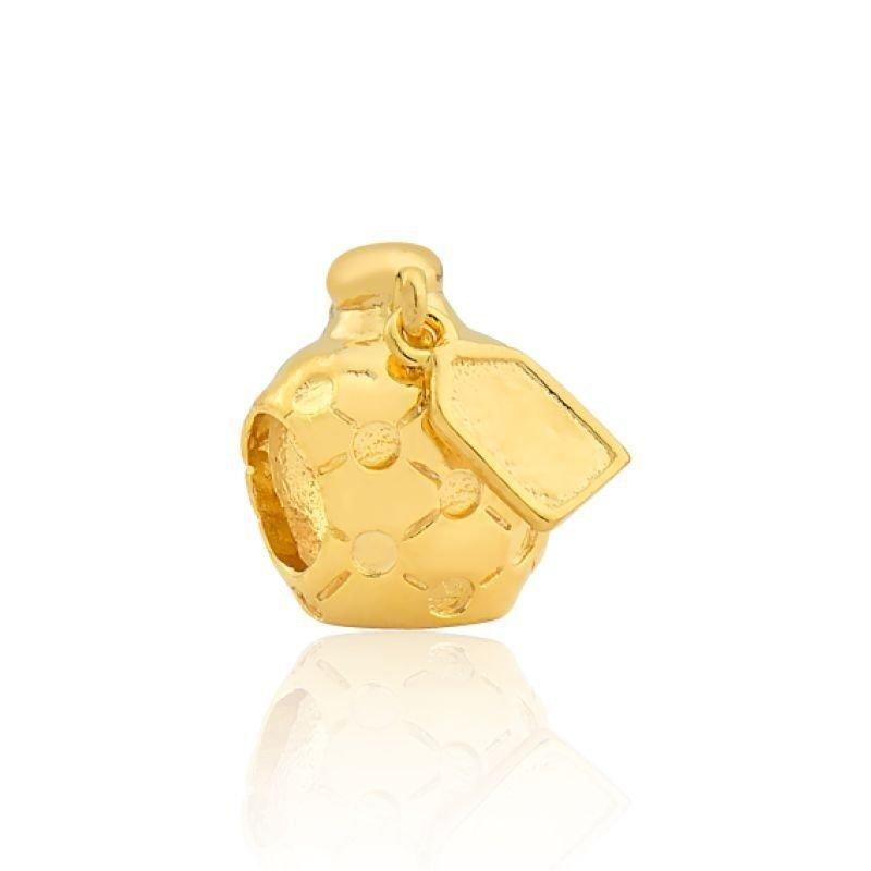 Berloque Perfume detalhes Dourado