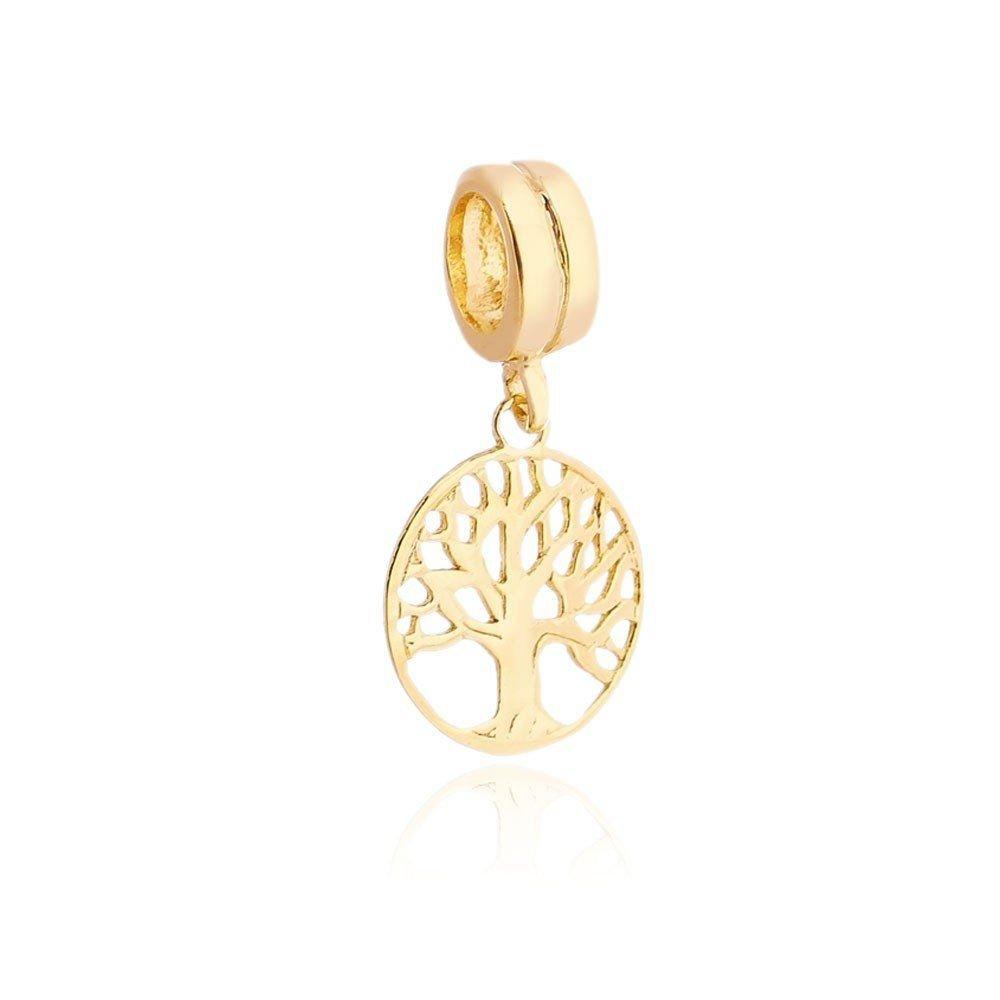 Berloque Pingente Árvore Da VIda Dourada