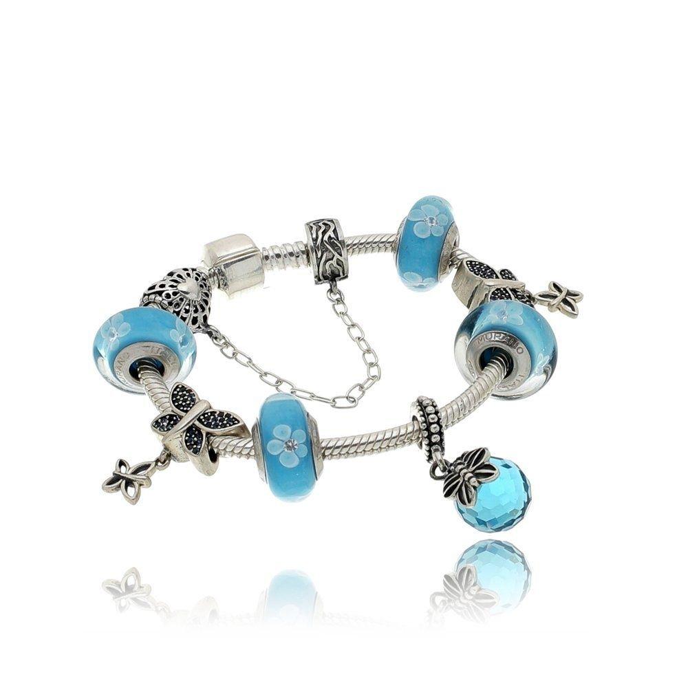 Berloque Pingente Azul Borboleta